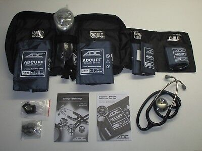 ADC Multikuf 732 4-Cuff EMT Kit with 804 Portable Palm Aneroid Sphygmomanometer,