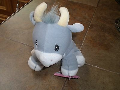 Vintage Precious moments Tender Tails Stuffed Gray Billy Goat New with tags
