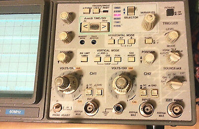 Hitachi V-660 60MHz Two Channel Oscilloscope: BOTH CHANNELS POWER ON
