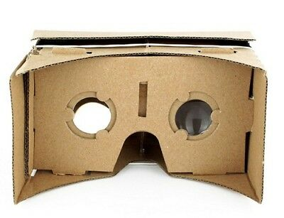 Google Cardboard Virtual Reality VR Headset Kit 3D DIY Kit  NFC Tag Lens Head