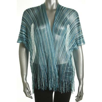 Collection XIIX Women's Scarf Kimono NO Size Aqua/Blue New Rayon Limited LAFO