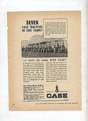 Case Tractor Advertisement removed from 1953 Farming Magazine