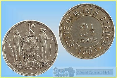 British North Borneo 2 1/2 Cents 1903  ...  gVF