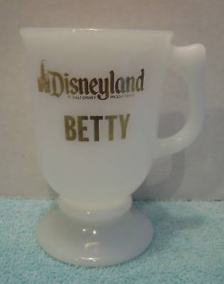 Vintage Disney Disneyland Milk White Coffee Mug