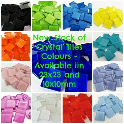 Crystal Tiles 23x23mm - 36 tiles - Choose Your Colour