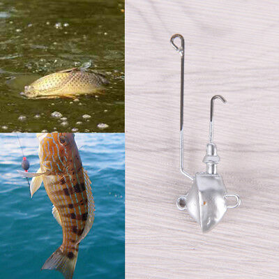 Lead head 1Pcs 11.5g 6cm jip head With anchor hook Bait Jigging For Soft Lure W