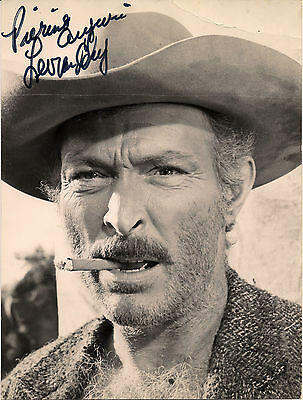 Lee Van Cleef - Autografo Originale