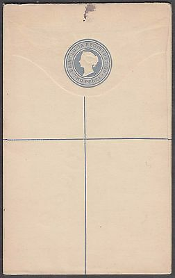 St. Lucia Two Pence Scarce Registered Letter Ps With Specimen Overprint