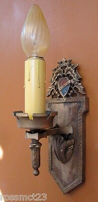 Vintage Sconces matched pair 1920s Thistle wall lights