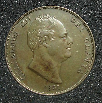 1831 William IV Copper Penny - EF/UNC