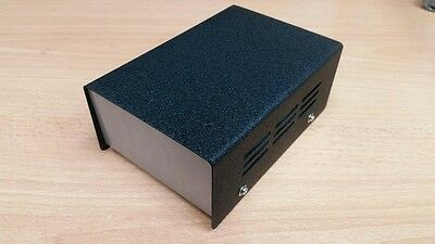 Metal Project Box DIY Electronics / Transformer Ventilated Enclosure Case Black