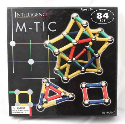 M-Tic Magnetic Building Block Set 80 Pieces Kids Connector Sticks Play Magnets