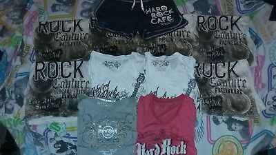 10 NEW Womens Xs S HARD ROCK CAFE SHIRT LOT + Shorts vintage hip hop fashion