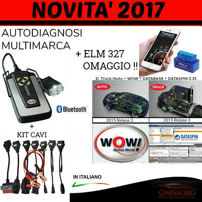 Autodiagnosi Professionale Mutlimarca  2017 Bluetooth + Kit Cavi Auto Diagnosi
