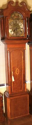 "Antique Mahogany Brass Moon Phase"" Shrewsbury"" Grandfather / Longcase Clock"