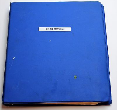 Cops and Robbersons * 1993 Storyboards & Screenplay * Chevy Chase & Jack Palance