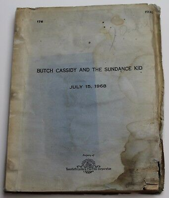 Butch Cassidy and the Sundance Kid  * 1968 Movie Script Screenplay WATER STAINED