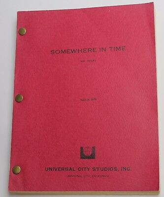 SOMEWHERE IN TIME * 1979 Movie Script Screenplay * Christopher Reeve, Superman