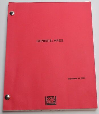 Rise of the Planet of the Apes * 2007 Movie Script Screenplay, Early Draft