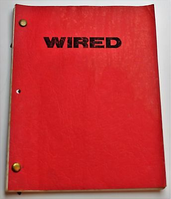 Wired * 1988 Original Movie Script Screenplay * John Belushi, Biography Film
