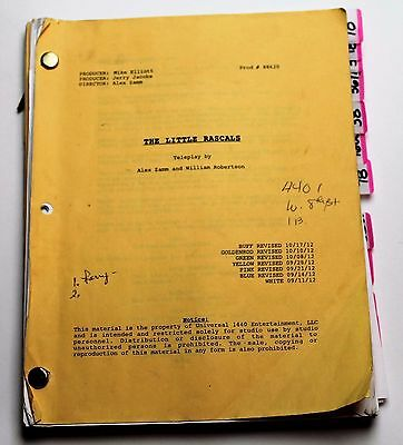 DORIS ROBERTS Personally Used 2012 Movie Script, The Little Rascals Save the Day