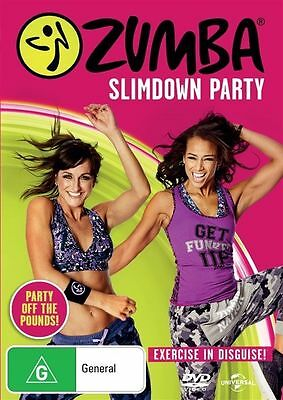 Zumba Slimdown Party (Exercise in Disguise!) NEW DVD (Region 4 Australia)