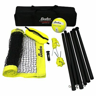 Volleyball Set Baden 8Ft x 1.25inch Steel Poles 24Ply Net Plus Ball And Air Pump