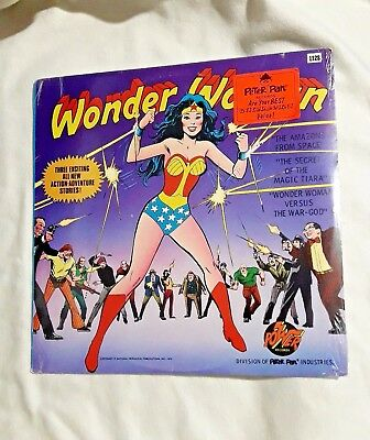 Wonder Woman LP SEALED Record 1975 Secret Of The Magic Tiara, Amazons From Space