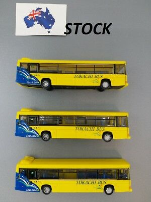 """3 x TOMYTEC 1/150 N Scale Bus Collection """"TOKACHI BUS"""" for model train setting"""