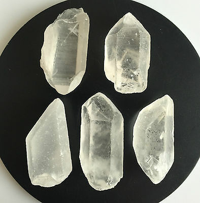279 Ct Natural Rock Crystal Quartz Rough Points Raw Colorless White Gems Loose