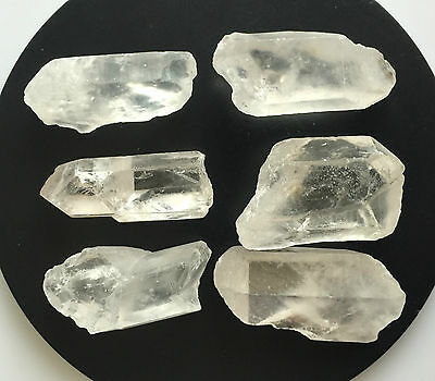 248 Ct Natural Rock Crystal Quartz Rough Points Raw Colorless White Gems Loose