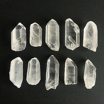310 Ct Natural Rock Crystal Quartz Rough Points Raw Colorless White Gems Loose