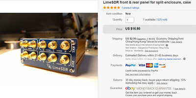 LimeSDR front and rear panel for split enclosure, Lime SDR, case
