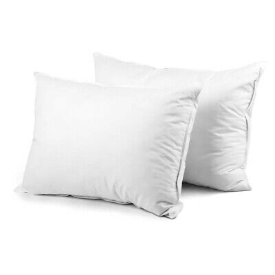 Set of 2 Goose Feather a& Duck Down Pillow - White