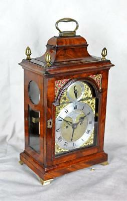 FINE MAHOGANY BRACKET CLOCK VERGE - Francis Dorrell , London