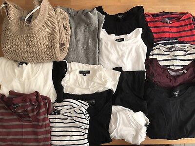 Large Bundle Of Maternity Tops