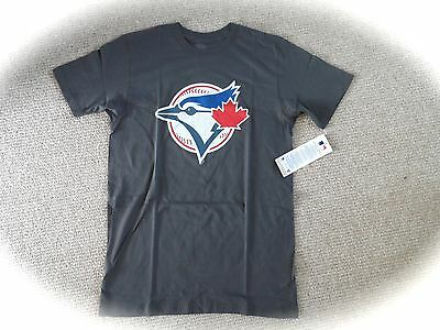 M or L BLUE JAYS DK GREY OFFICIAL MLB Baseball T Shirt NEW Strong Toronto Canada