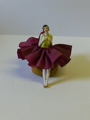 Vintage German 1920/30's Flapper Art Deco Bisque Half Doll / Pincushion Doll
