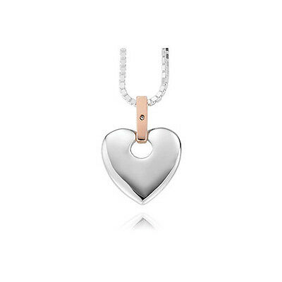 Official Welsh Clogau Silver & Rose Gold Cariad Pendant £130 off!