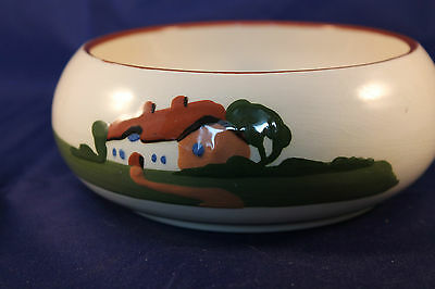Vintage Dartmouth Pottery Motto Ware Ceramic Bowl Hope On Hope Ever Hand Painted