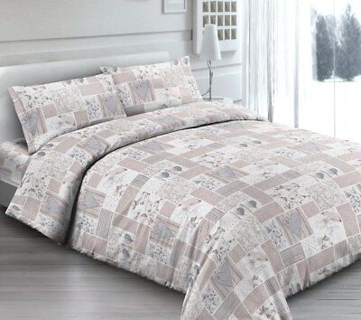 Trapunta Invernale 300 Gr Cotone Matrimoniale Shabby Beige Made In Italy