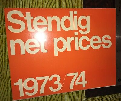 LOT KEN0005 / 111 Page Stendig Price And Product Catalog Mid Century Furniture