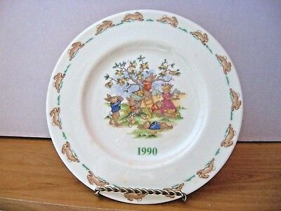 Royal Doulton Bunnykins  1990 US SPECIAL EVENTS TOUR COLLECTOR PLATE