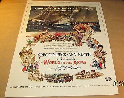 Movie Ad---WORLD IN HIS ARMS---<1952>---GREGORY PECK--ANN BLYTH