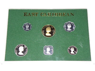 EAST CARIBBEAN - 1981 PROOF COIN SET - 6 Coins - DOLLAR to ONE CENT COINS