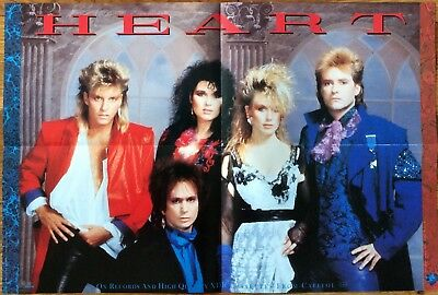 Heart Self Titled '85 RARE vintage promo poster - bio on back