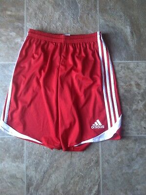 Youth Extra Large Red Adidas Soccer Shorts