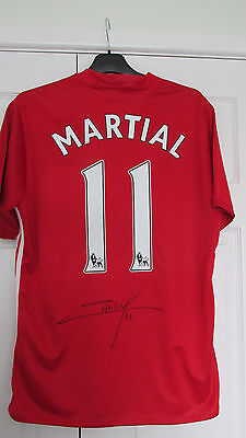 """signed """" ANTHONY MARTIAL - Manchester United """" 2016/17 Home Shirt (PROOF & COA)"""