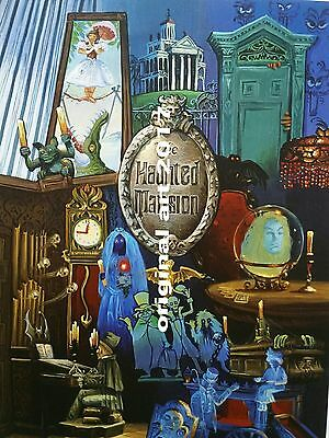 Original art print Haunted Mansion Disney only available thru me I am the artist