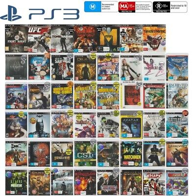 💙❤️️🖤 Sony PlayStation 3 PS3 ●● GAMES RATED M & ABOVE ●● Your Choice 14/10